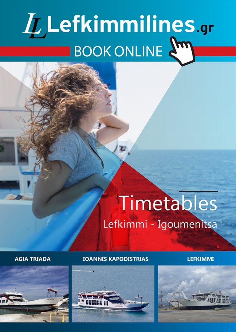 Tickets to Igoumenitsa Lefkimmi Corfu - Lefkimmi Lines